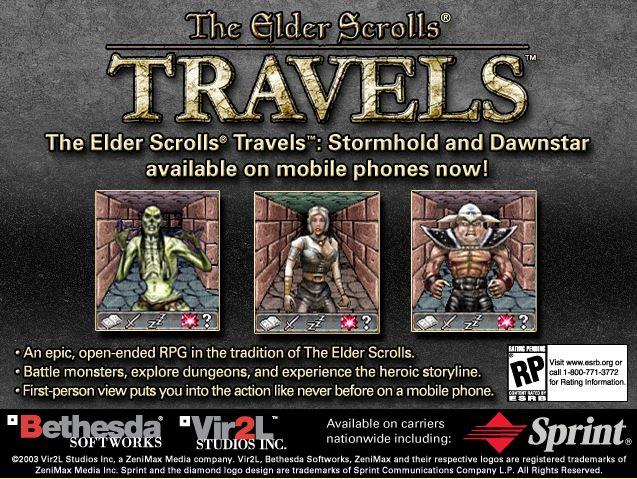"""A screenshot of an advertisement for """"The Elder Scrolls Travels"""""""
