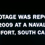 "Image with the text ""This footage was reportedly shot in 2009 at a Naval facility in Beaufort, South Carolina"""