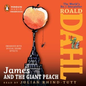 James and the Giant Peach audiobook cover artwork.