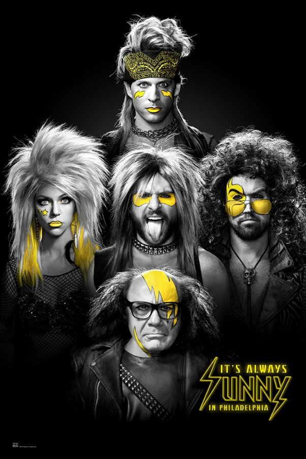 Its Always Sunny in Philadelphia tv show poster.
