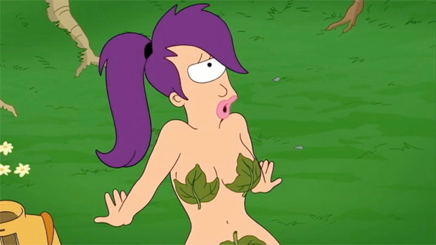 Image of Leela nude in the garden of eden episode