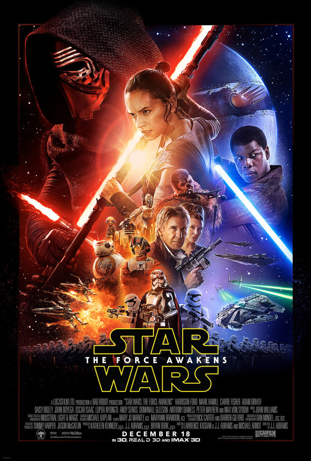 Image of Star Wars the Force Awakens movie poster
