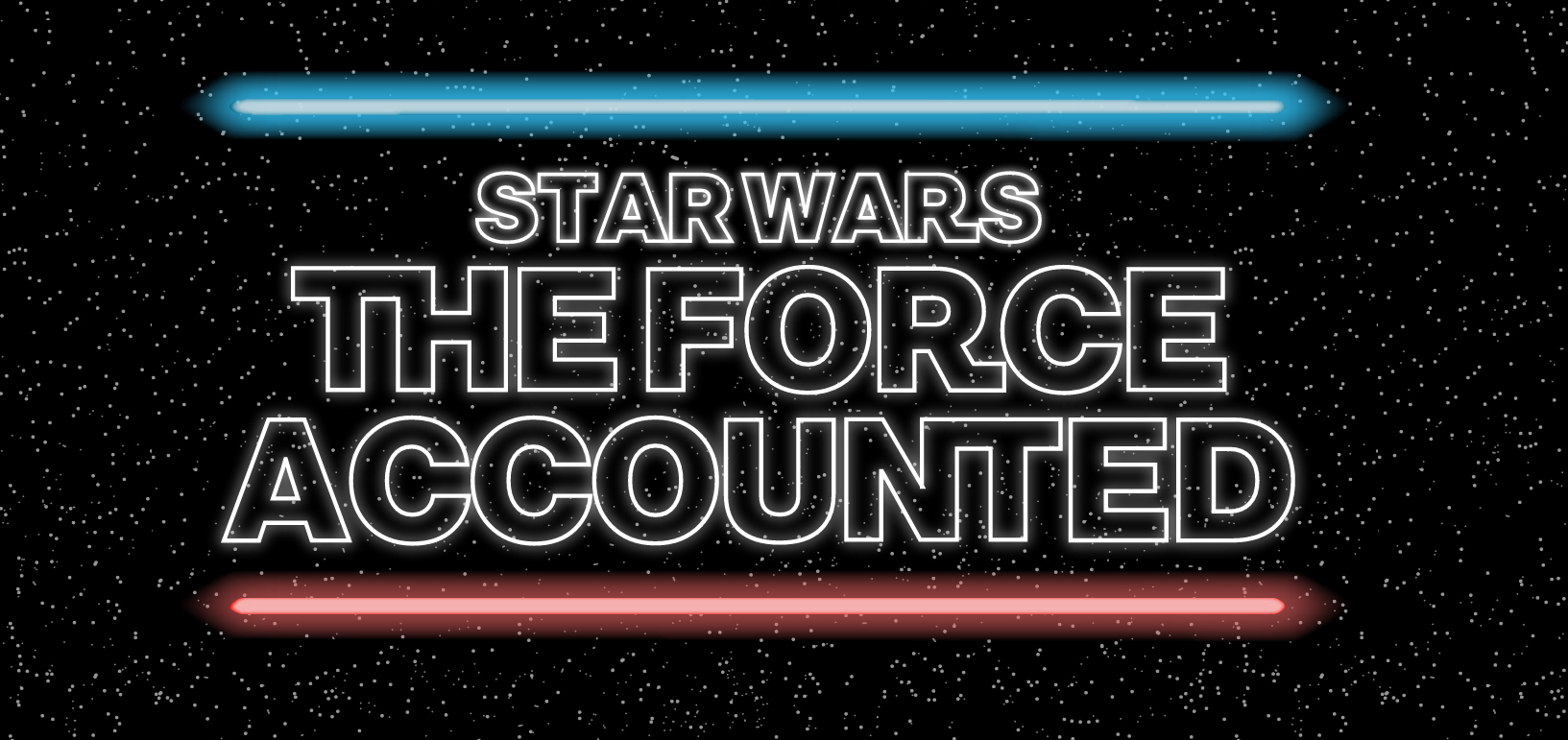 "Image from Bloomberg with text ""Star Wars the force accounted"""