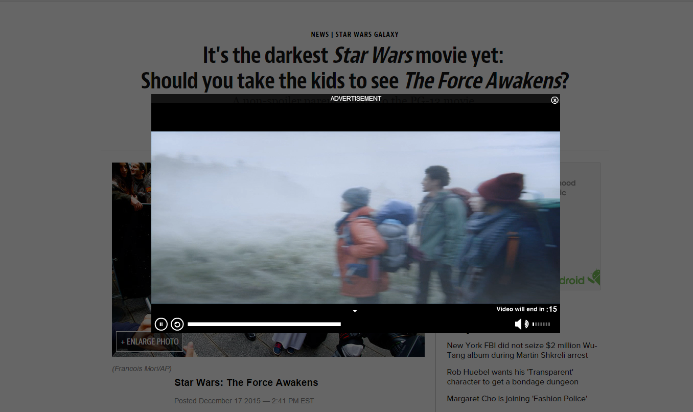 Like the popup autoplay videos before you read a bad article??? ME TOO ! ! !