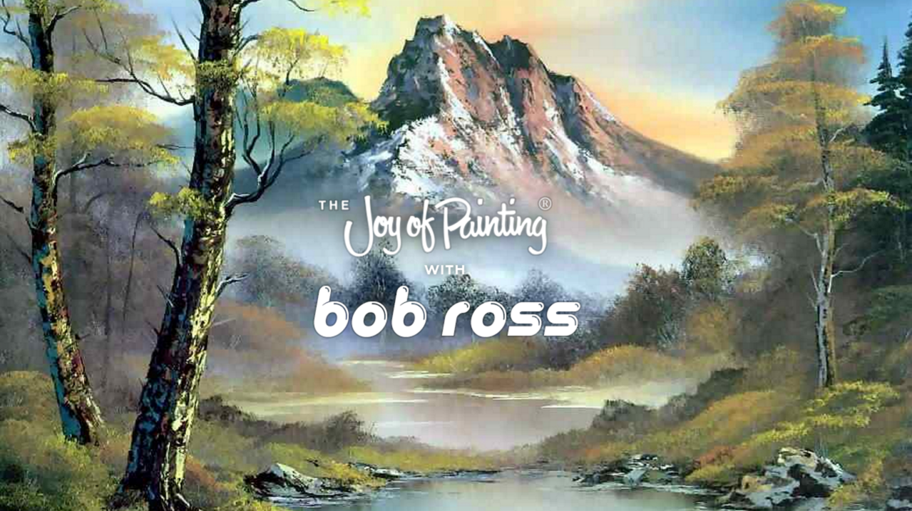 Image of a landscape by Bob Ross.