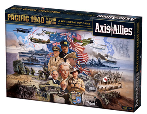 An image of the Axis and Allies Pacific board game box