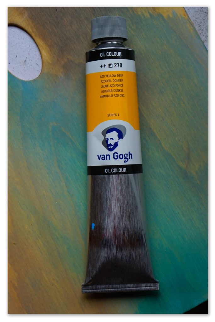 Image of a tube of Azo Yellow Deep van Gogh oil paint