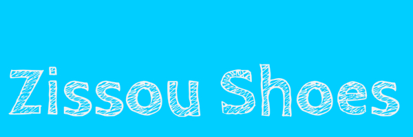 "Blue colored banner with text ""Zissou Shoes"""