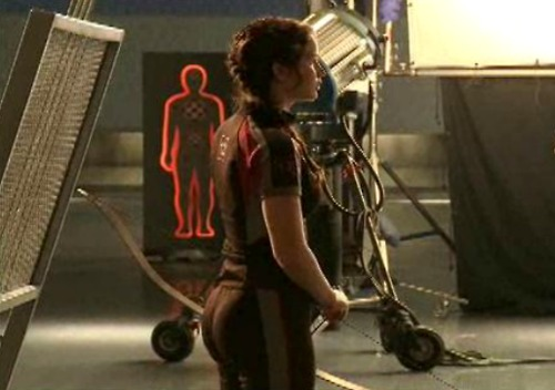 Image of Jennifer Lawrence's butt in the Hunger Games.