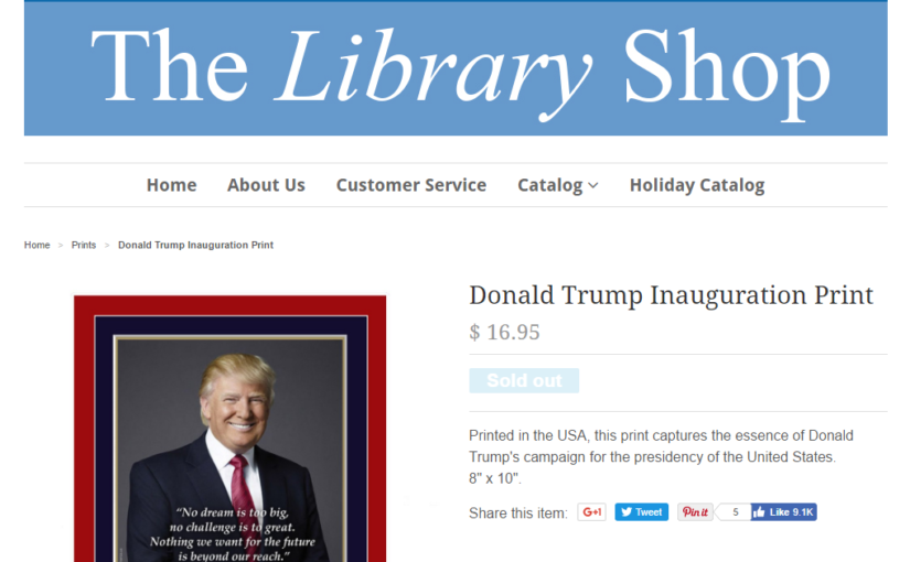 A Library Shop Trolls the President – Or the President Trolls Himself?