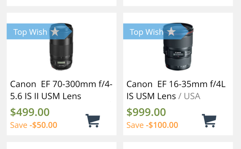 Fake Black Friday Savings on Canon Lenses @ Adorama and B&H